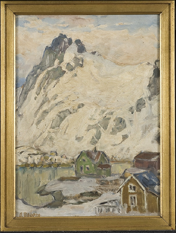 At the Foot of the Mountain. Study from Lofoten