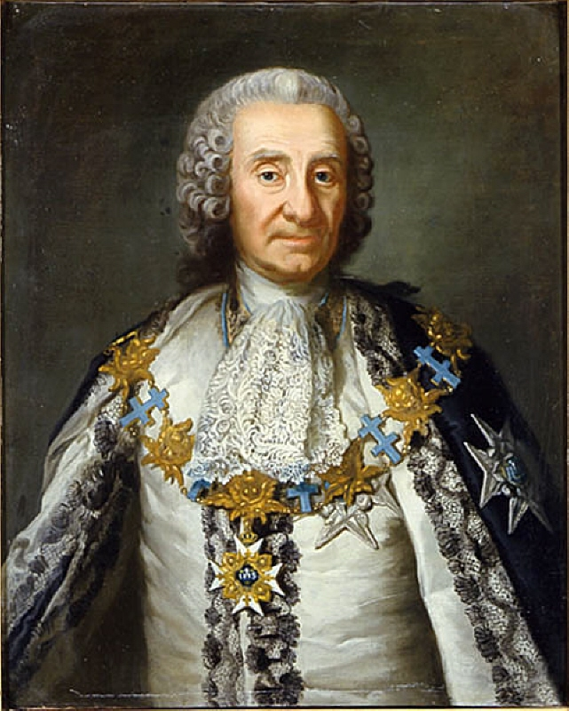 Gustaf Fredrik von Rosen, (1688-1769), count, councillor, commander in chief, governor general in Finland, married to 1. countess Sofia Lovisa Wachtmeister of Johannishus, 2. baroness Ebba Margareta Banér, 3. countess Teodora Beata Dûcker