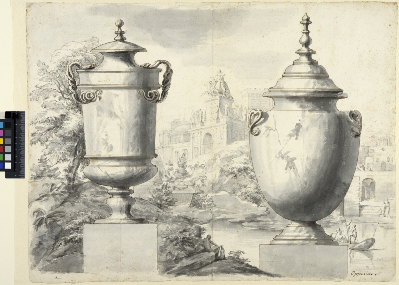 Two Vases in a Landscape