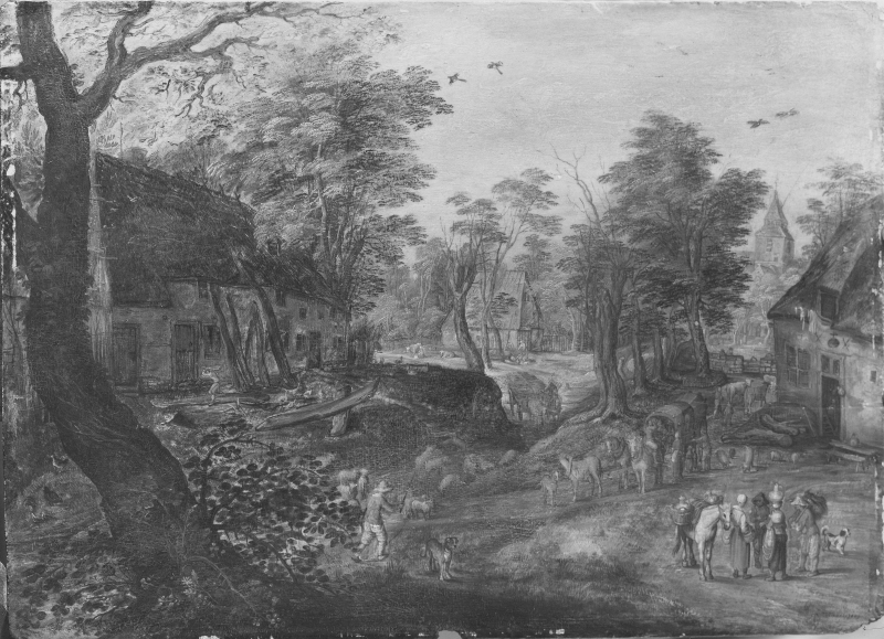 Landscape with a Road through a Village