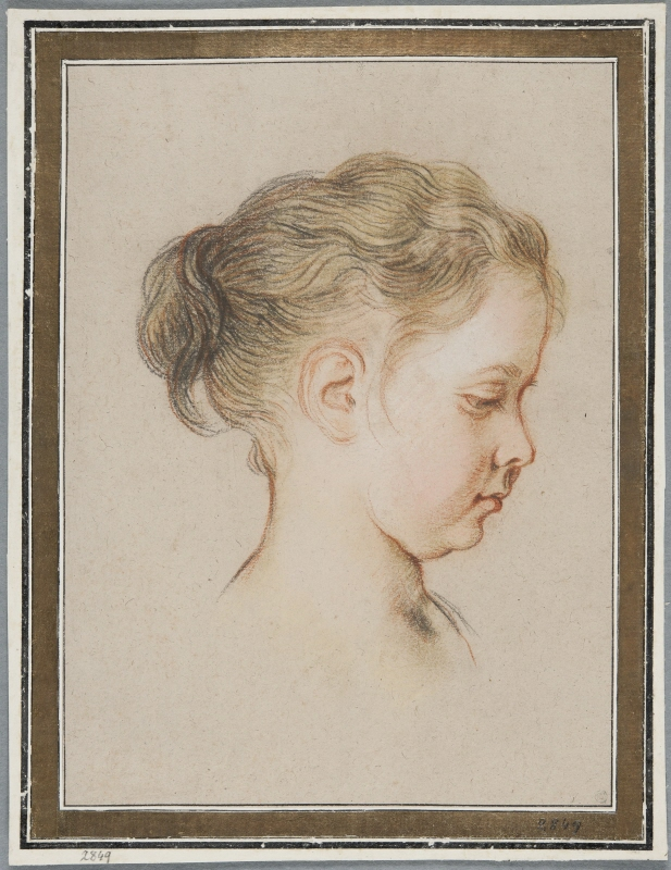 Young Girl in Profile to the Right