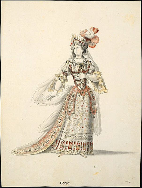 Costume Sketch, Ceres