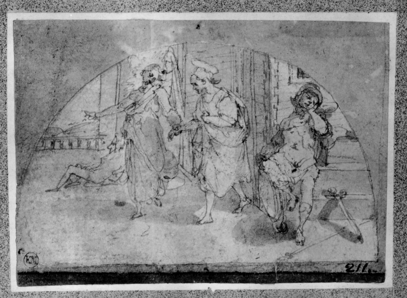 Study for lunettes with stories of St. Peter: St. Peter released from prison