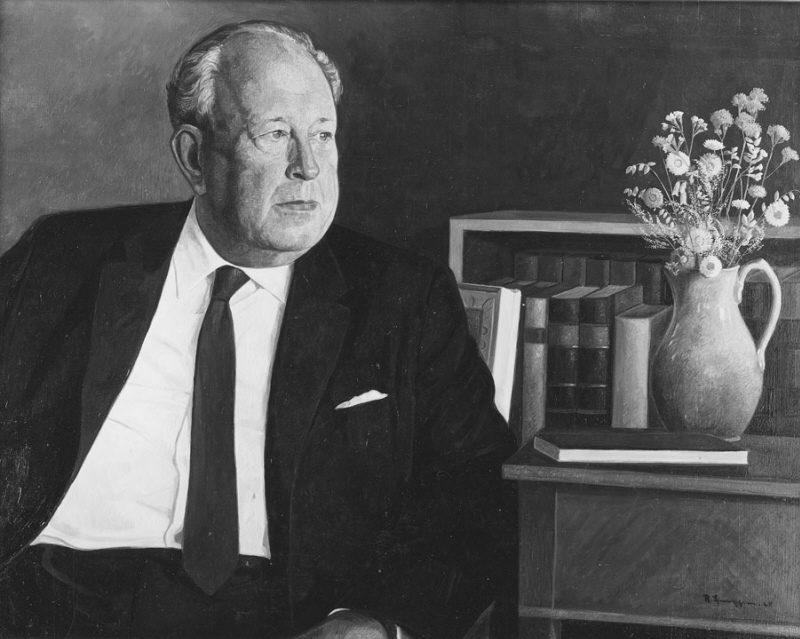 Ingvar Andersson (1899-1974), docent, historian, Keeper of the Public Records, member of the Swedish Academy, married to master of arts Ally Nilsson