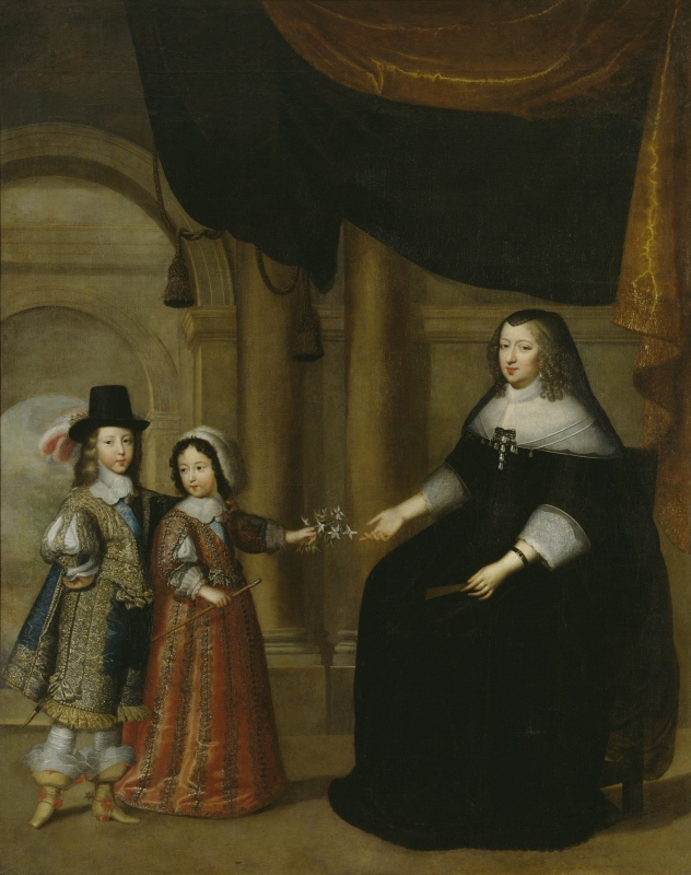 Anne of Austria, Queen of France, with her sons Louis XIV, King of France, and Philip, Duke of Anjou