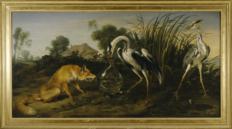 Fable of the Fox and the Heron