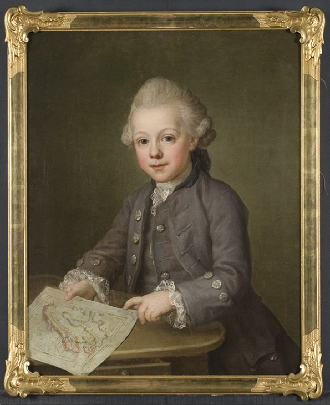 Boy with Map of Scandinavia