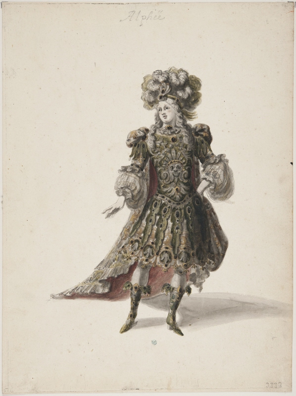 Sketch for costume; for 'Alphée' from the opera 'Proserpine' by Lully