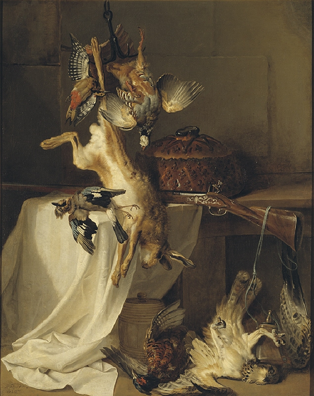 "Still Life with a Rifle, Hare and Bird (""Fire"")"