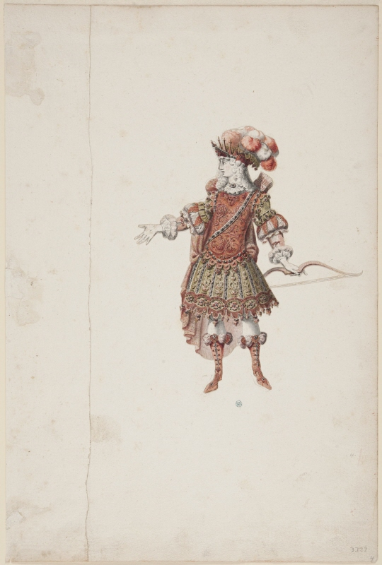 Sketch for costume; for 'Apollon' from the opera 'Alceste' by Lully