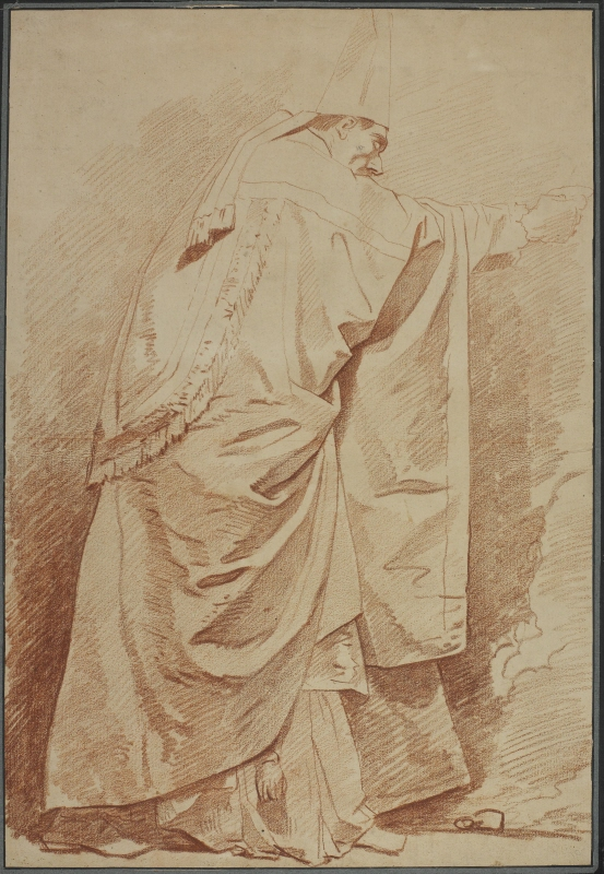 Study for Drapery, Standing Bishop