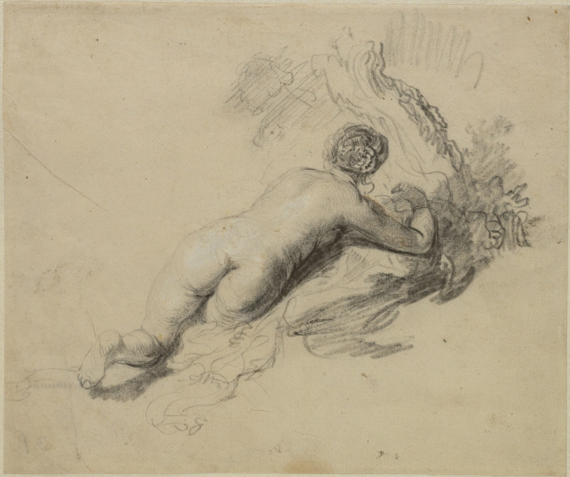 Reclining Female Nude, Seen from Behind