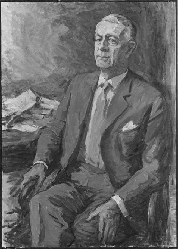 Bertil Ohlin (1899-1979), professor, economist, member of the cabinet, party leader, married to Evy Kruse