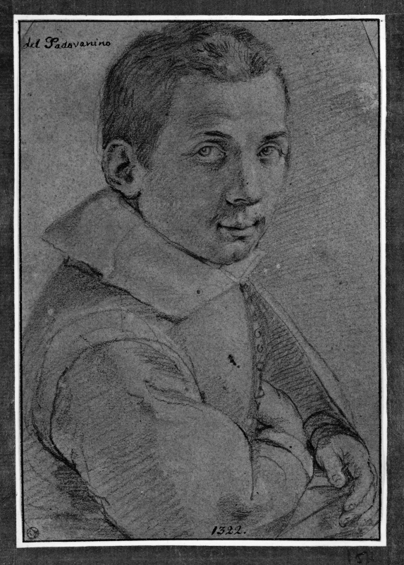 Portrait of a young man turned to the right