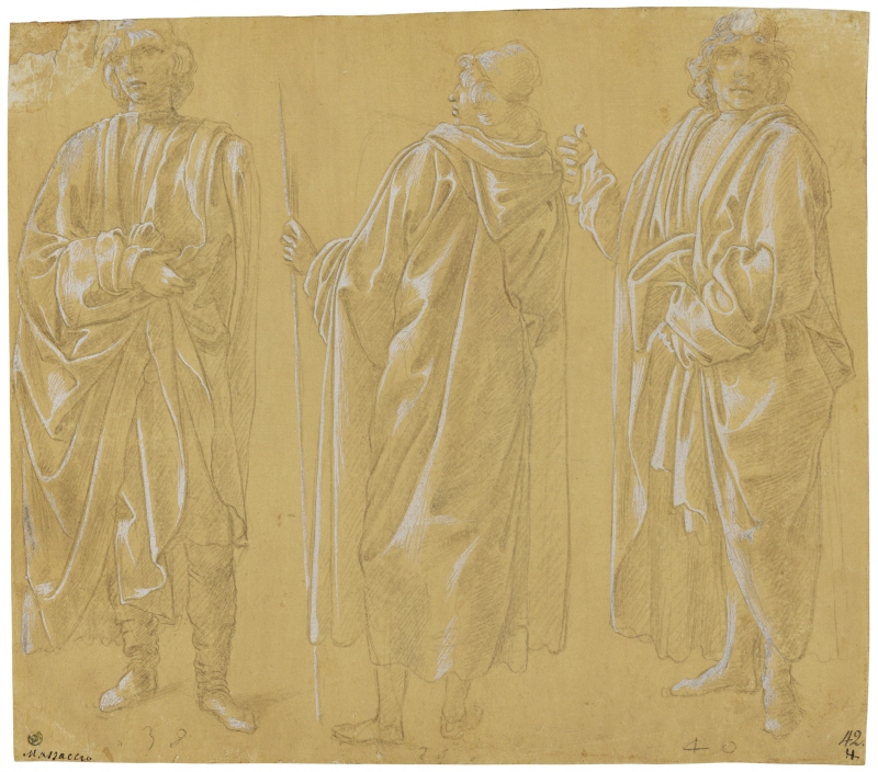 Three Draped Men Standing