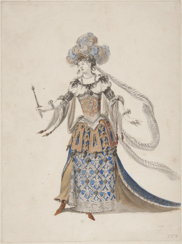 Sketch for costume; for 'Cybèle' from the opera 'Atys' by Lully