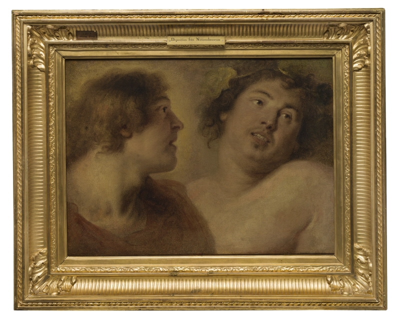 Study of Two Male Heads (Possibly for Bacchus)
