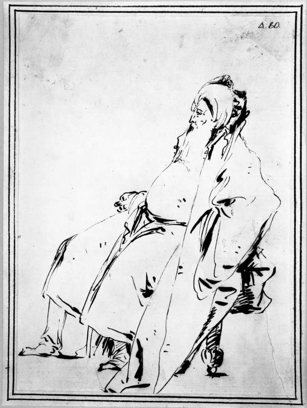 Old Man Seated, Profile Left