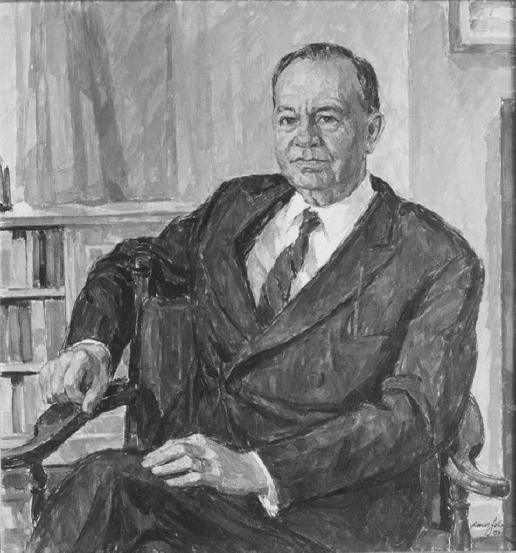 Axel Gjöres (1889-1979), member of the cabinet, director general, author, married to Hilma Larsson