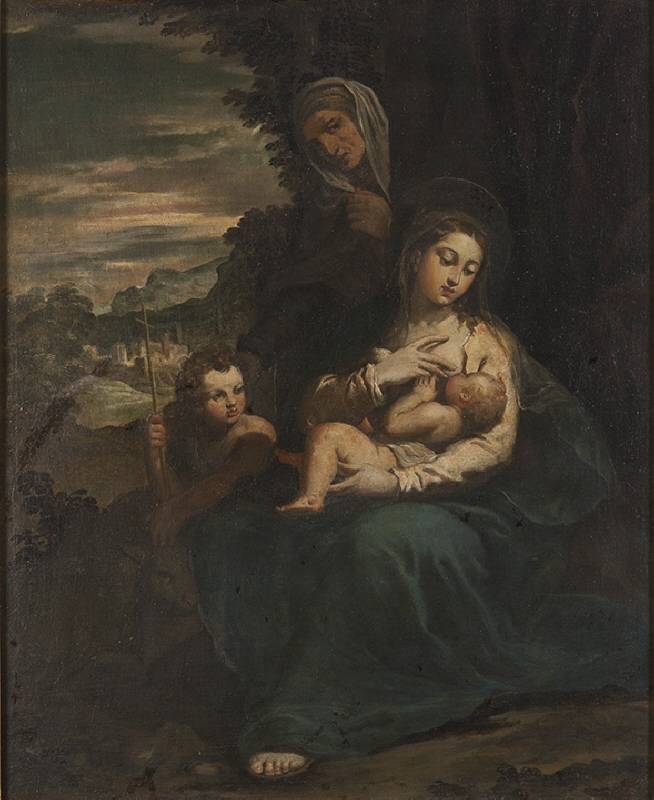 The Virgin and Child with St Elizabeth and the Infant St John