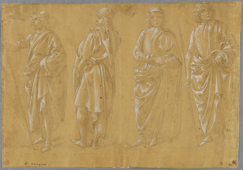 Four Draped Men Standing