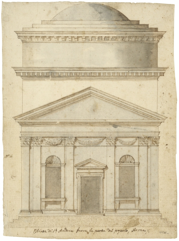 S.Andrea in Via Flamina; Rome; elevation of the frontfacade