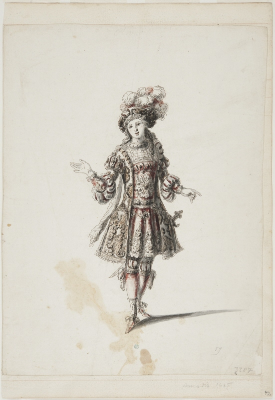 Sketch for costume; for 'Amadis' from the opera 'Amadis' by Lully
