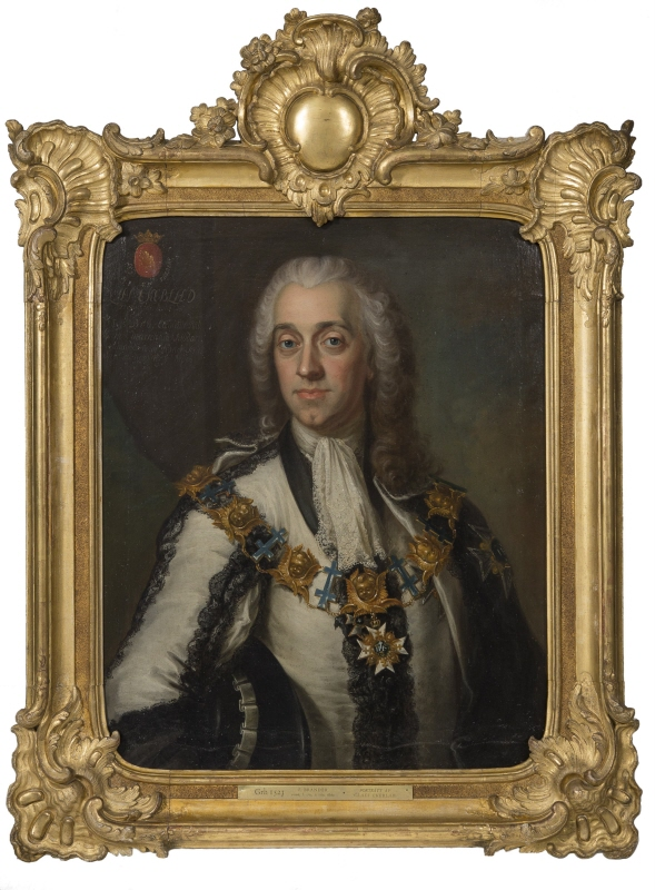 Claes Ekeblad t.Y. (1708-1771), count, president of the civil service division, councillor, chamberlain, married to countess Eva De la Gardie