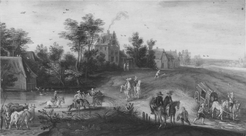 Landscape with a Country Road and a Watering-Place