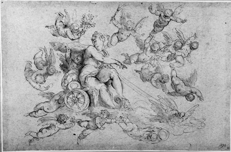 Venus in her Chariot, Surrounded by Angels