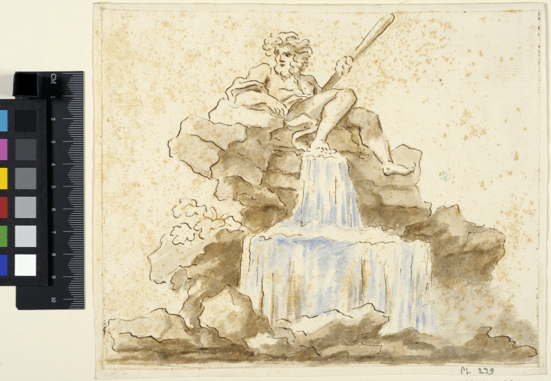 Study of a Fountain, Possibly after Bernini