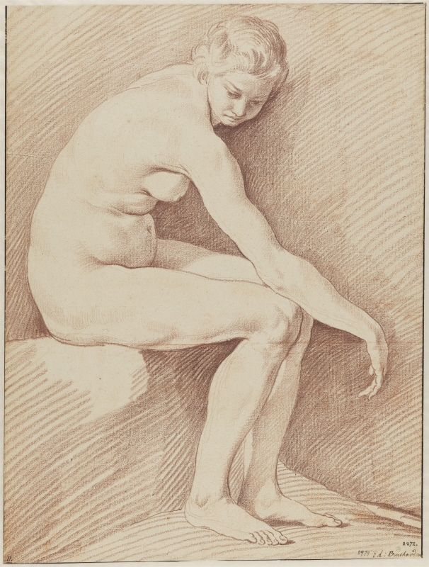 Study of a Nude Female Model, Facing Right