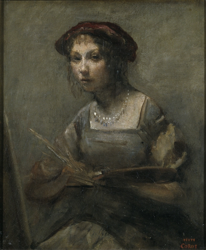 Young Girl Holding a Palette