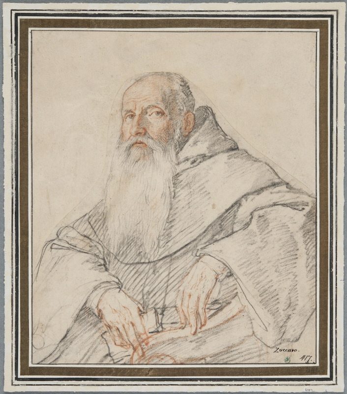Portrait of an Old Monk with Long Beard