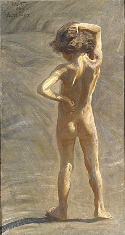 Study of a Nude Boy, the artist's son Fausto