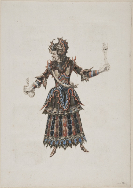 Sketch for costume; for the furie 'Erinnis' from the opera 'Isis' by Lully