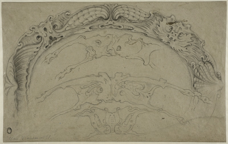 Designs for Auricular Ornaments for a Plate