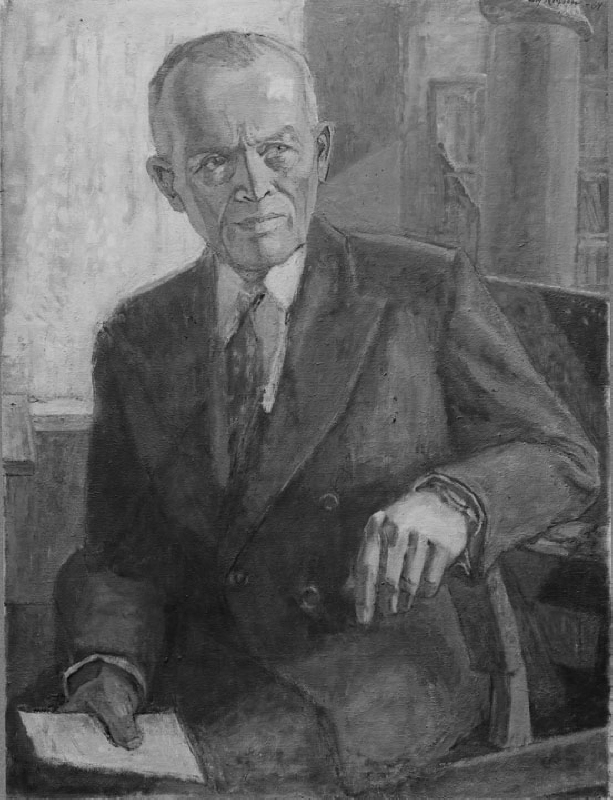Henning Throne-Holst (1895-1980), director of Marabou and SAS, art promoter, married to Gunhild Jenssen