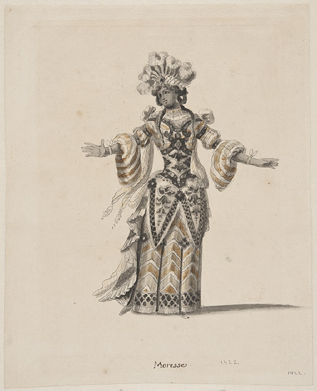 Costume sketch for the Moorish woman to the carousel Les Galants Maure