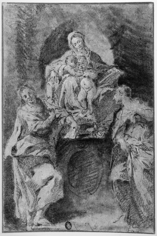 The Virgin with the Christ Child and John the Baptist, Flanked by St. Catherine and St.John the Evangelist
