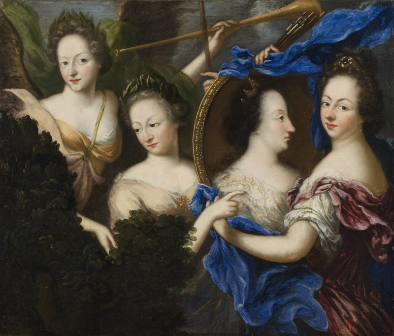 Allegory with self-portrait and profile portrait of Ulrika Eleonora the Elder
