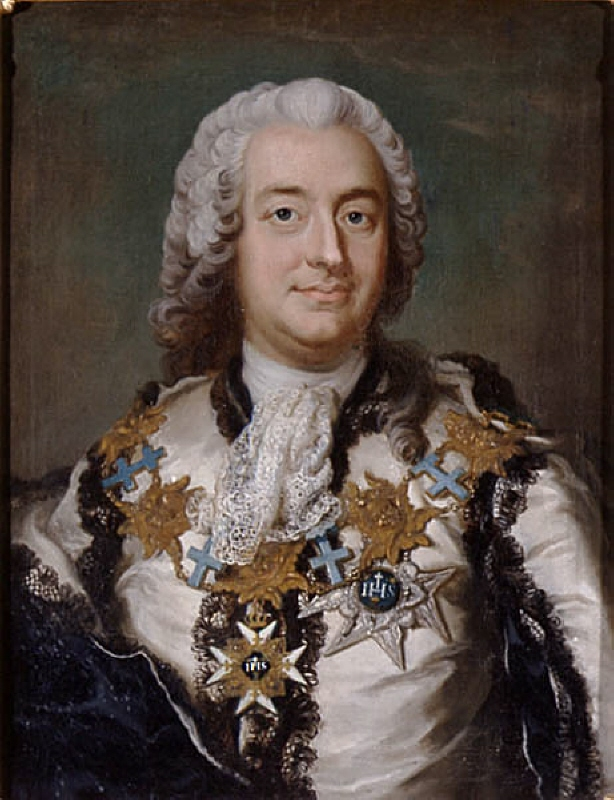 Anders Johan von Höpken (1712-1789), count, the chancellor of the Swedish universities, councillor, marshal of the court, member of the Swedish Academy, married to 1. countess Ulrika Eleonora Sparre af Söfdeborg, 2. baroness Vilhelmina Ribbing af Zernava