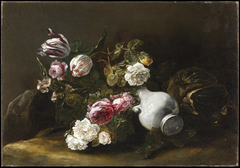 Still Life of Flowers and an Overturned Jug