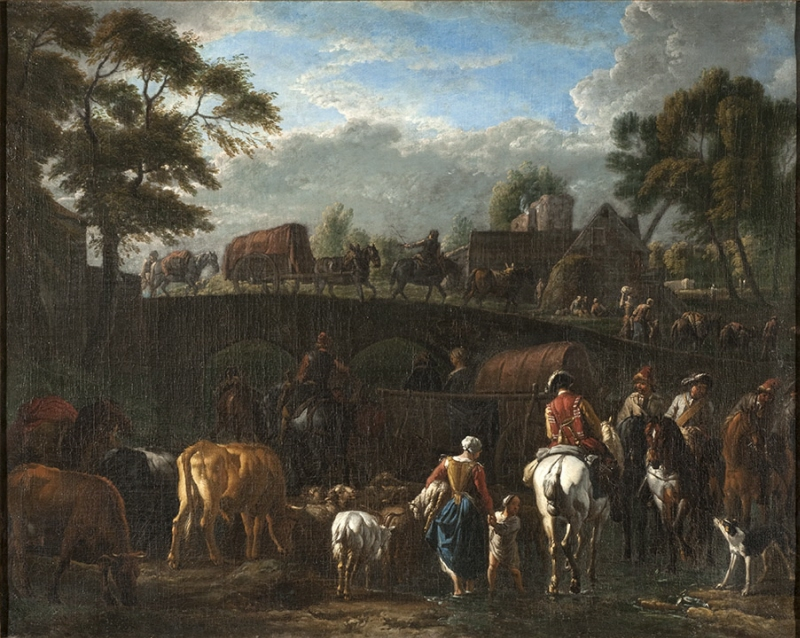 Landscape with Peasants, Soldiers and Cattle