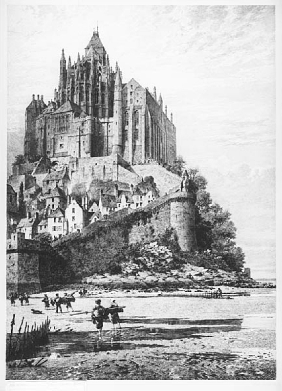 Mont S. Michel, Normandie