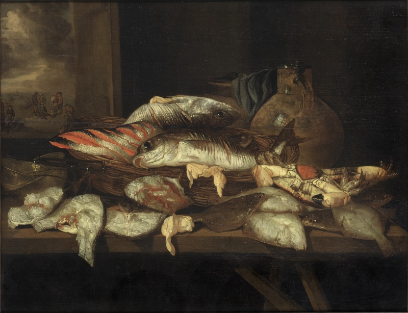 Still Life with Halibut and other Fish