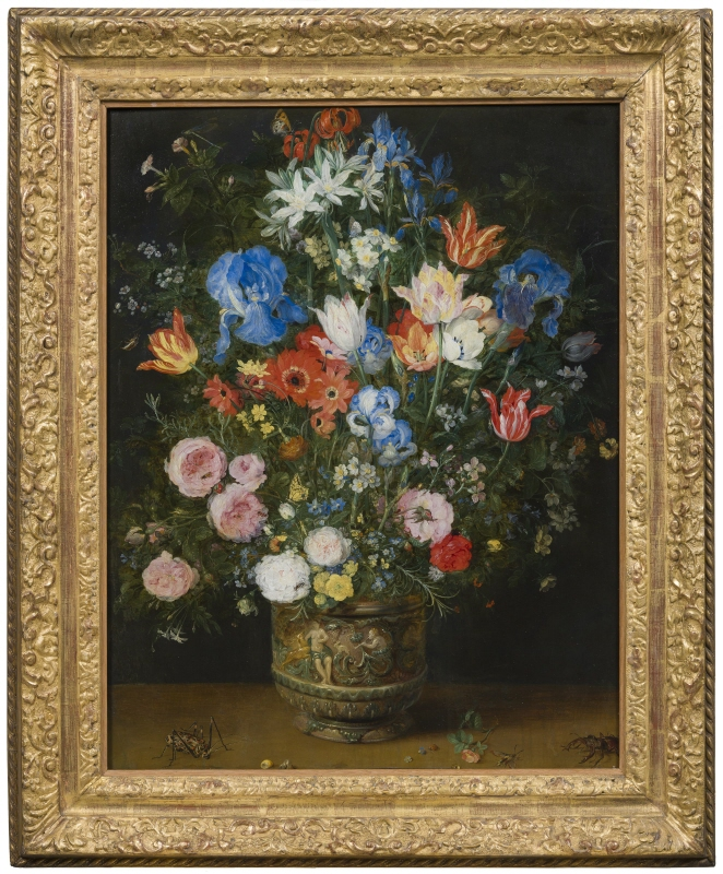 Still Life with Flowers in a Sculpted Jar