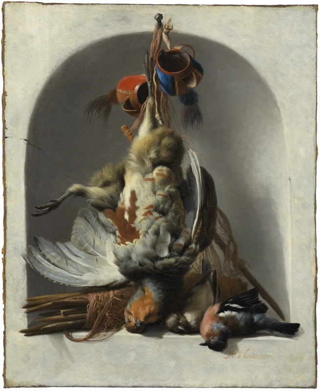 Still Life with Birds and Hunting Gear in a Niche