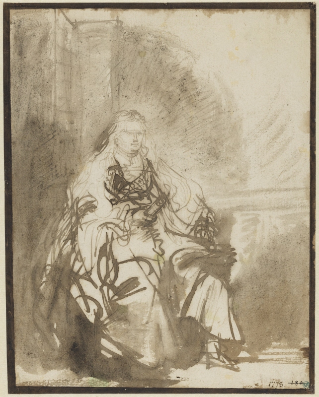 Esther, Study for the etching, the Great Jewish Bride (1635)