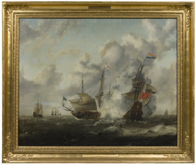 Sea Battle between the English and the Dutch